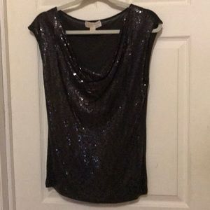 MICHAEL KIRS sequins front top